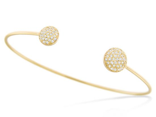 KC DESIGNS - 14K Diamond Disc Bangle