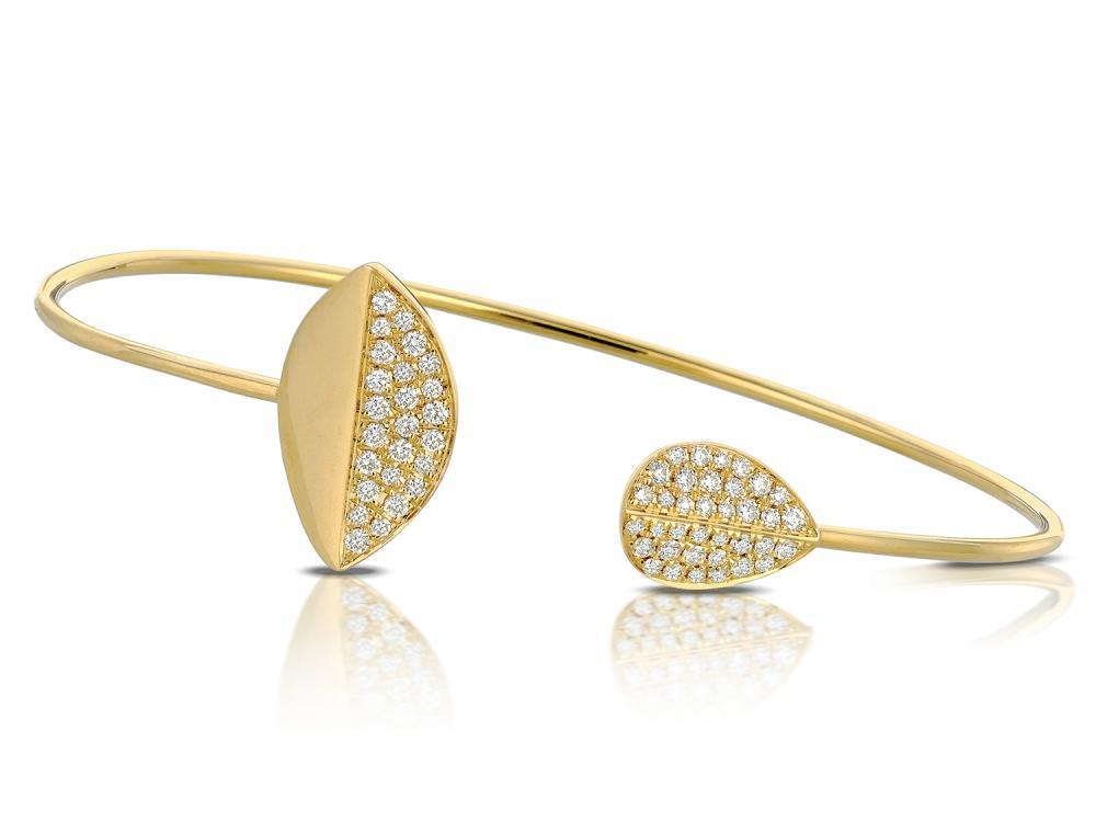 DOVES - 18K Yellow Gold Diamond Bangle