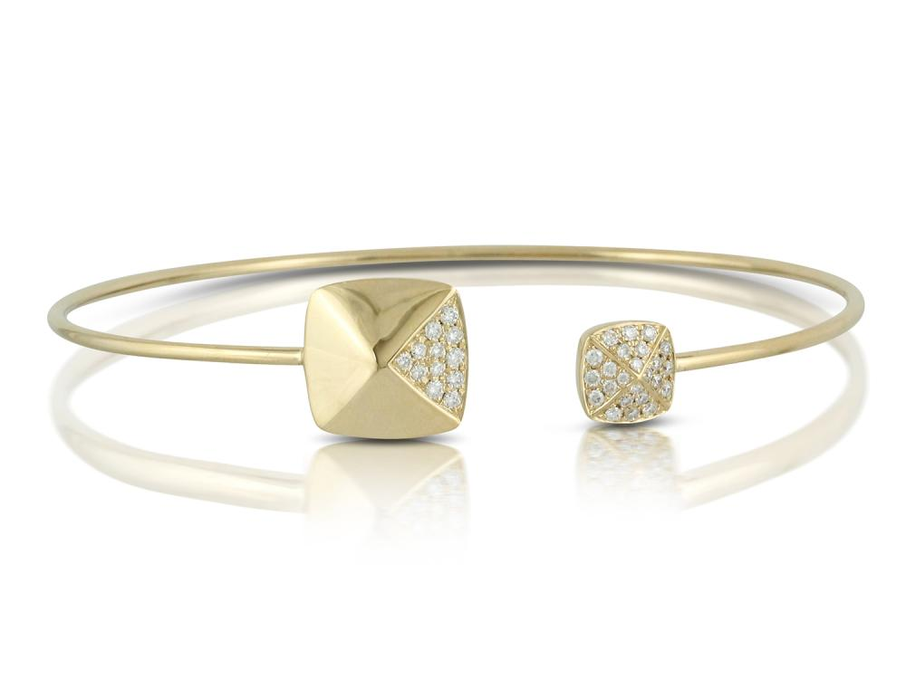 DOVES - 18K Rose Gold Diamond Bangle
