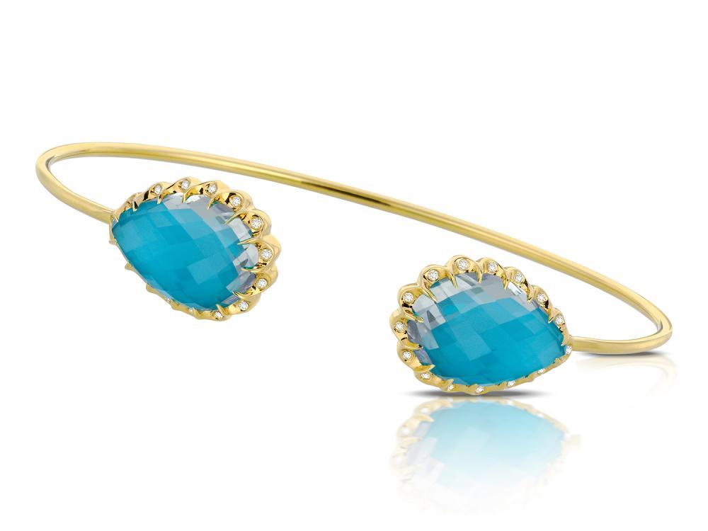 DOVES - 18K White Gold Diamond Bangle
