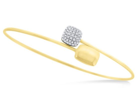 KC DESIGNS - 14K Gold and Diamond Bangle
