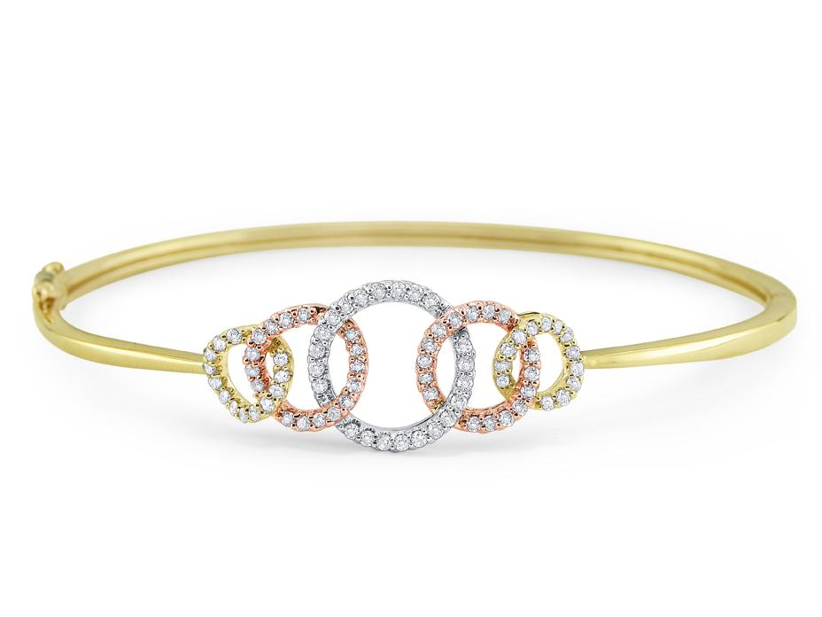 KC DESIGNS - 14K Diamond Multi Circle Bangle