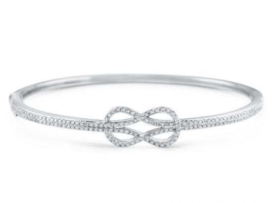 KC DESIGNS - 14K Diamond Love Knot Bangle