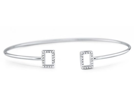 KC DESIGNS - 14K Diamond Geometric Bangle