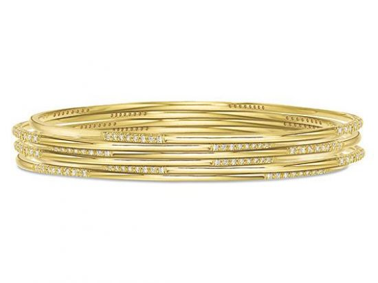 KC DESIGNS 14K Diamond X Cuff Bracelet Barbara Parker s