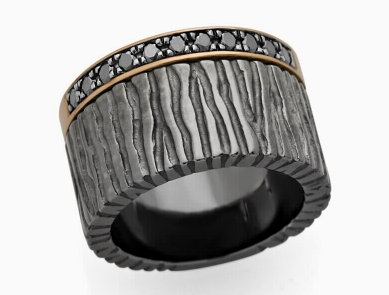 BLACK COLLECTION - Diamond Sterling Silver Ring