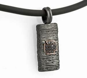 BLACK COLLECTION - Diamond Sterling Silver Pendant