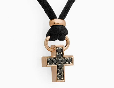 BLACK COLLECTION - Diamond Cross Pendant
