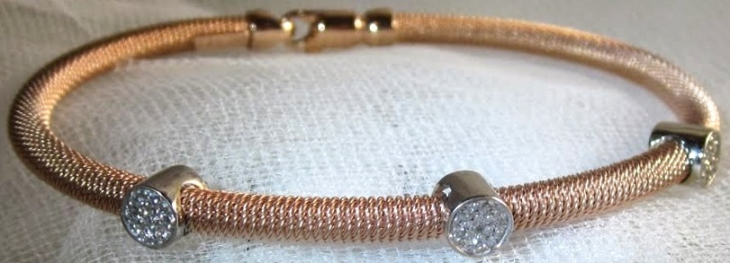 Rose Gold Cord Bangle