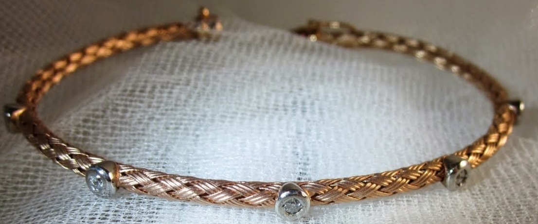Rose Gold Braided Bangle