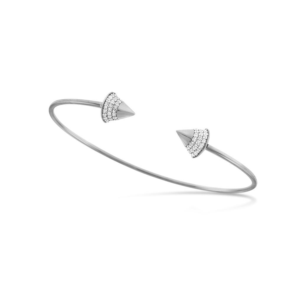 Diamond Spike Studded Bangle Bracelet