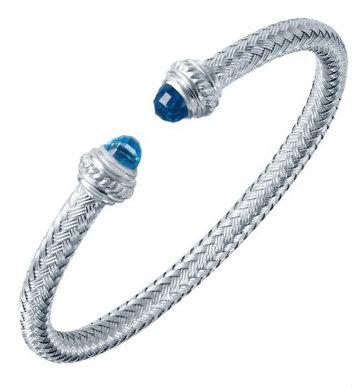 Sterling Silver Mesh Cuff Bangle Bracelet