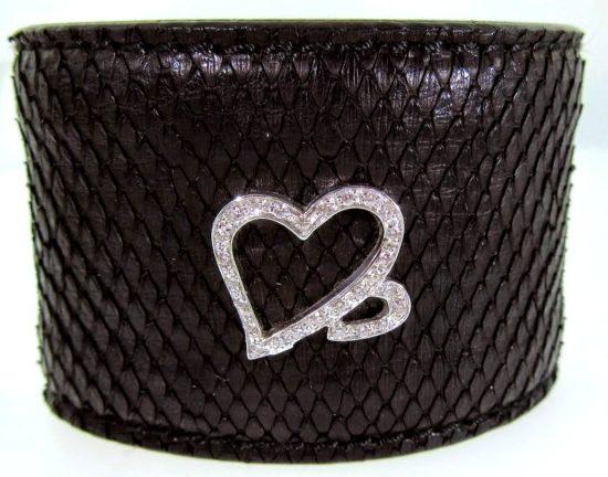 Black Python Cuff Bracelet