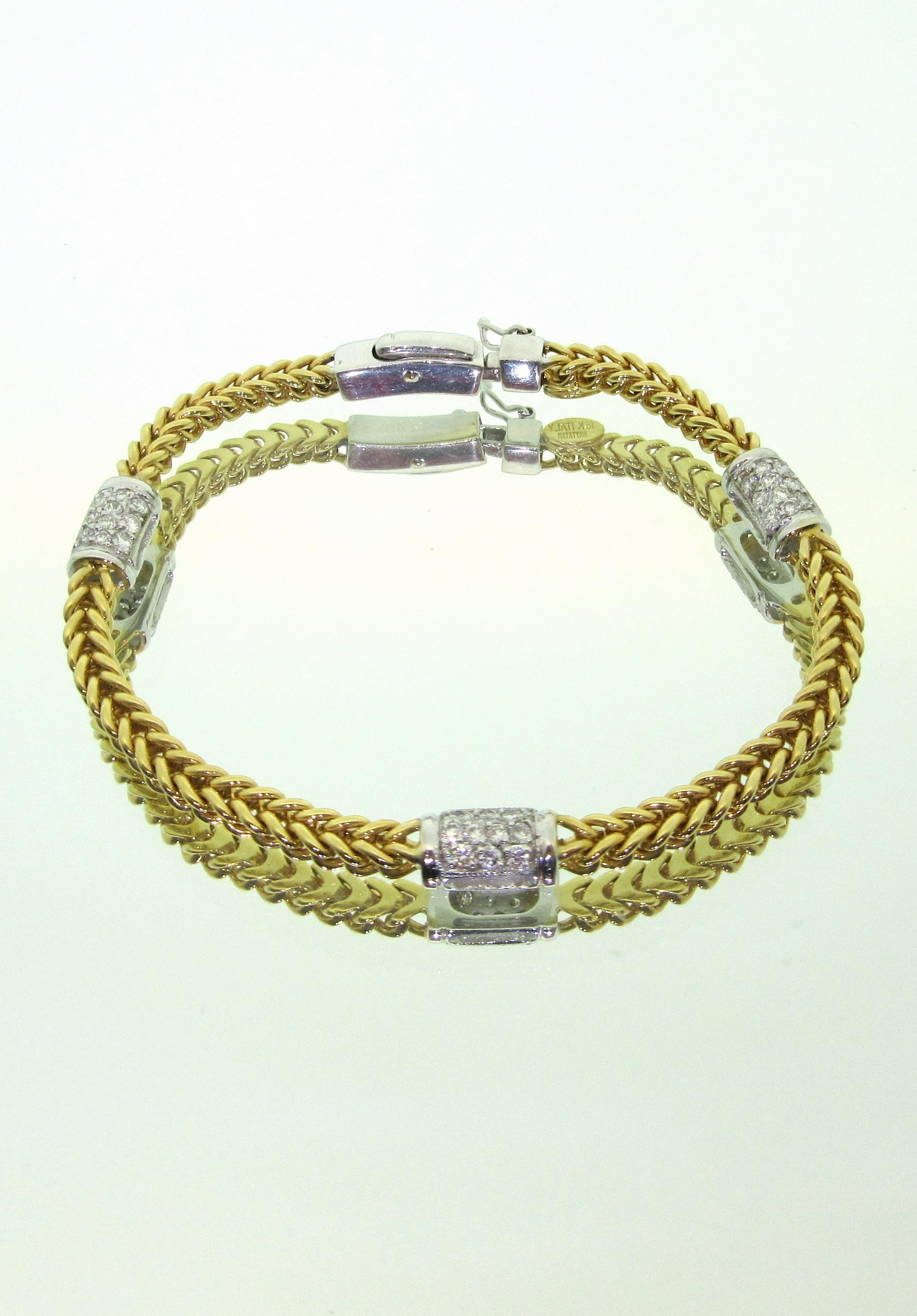 Two-Tone Tennis Bracelet