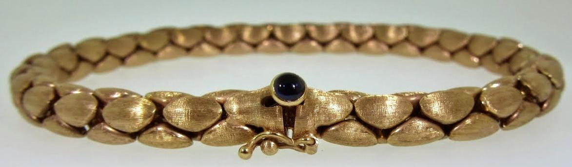 Wide Woven Link Bracelet