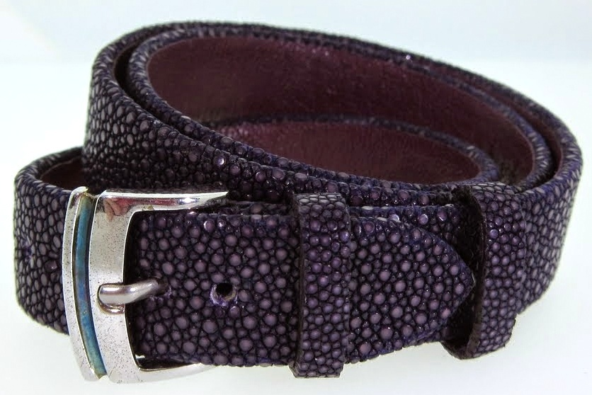 Purple Triple Wrap Textured Leather Bracelet