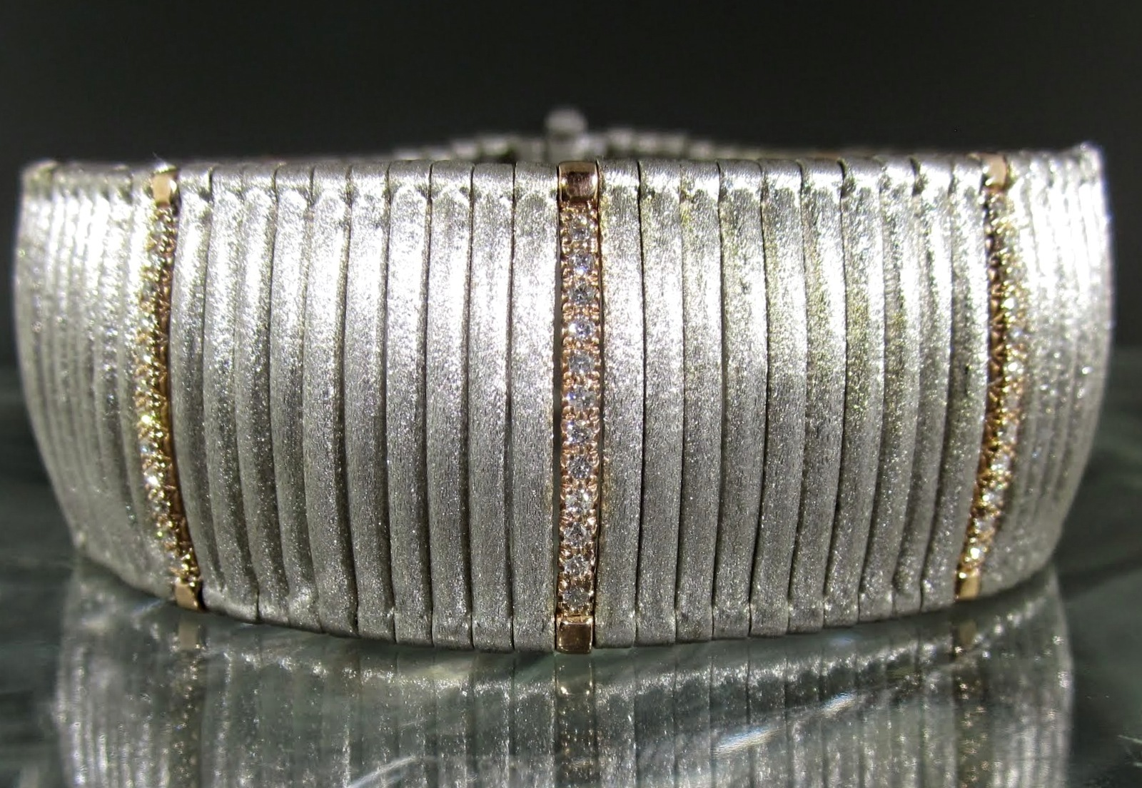 Diamond Satin Cuff Bracelet