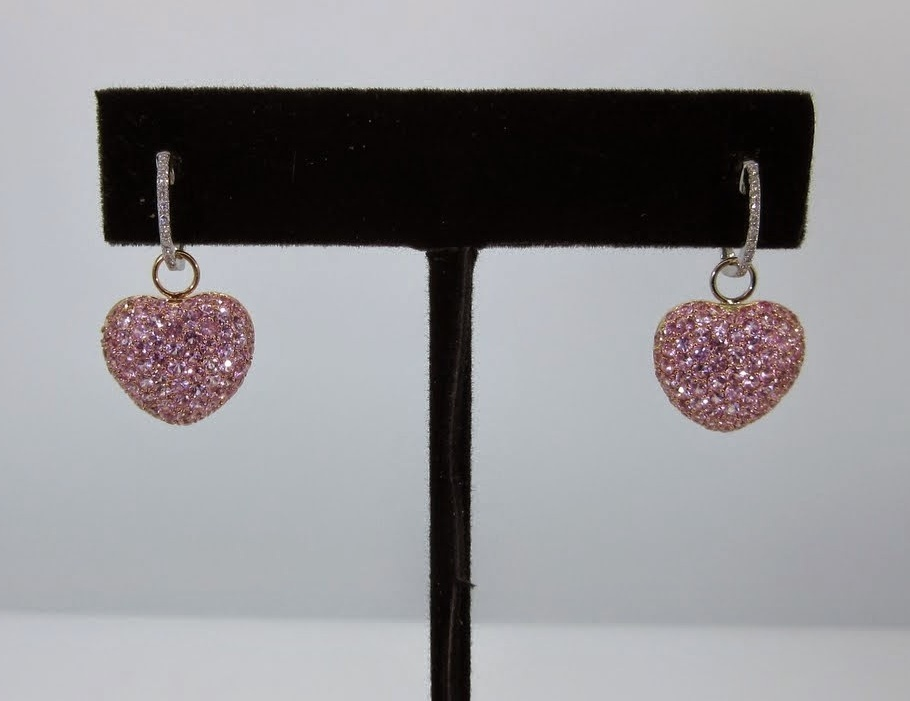 Pink Heart Earring Charms