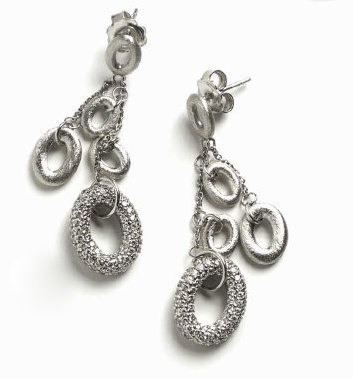 Oval Shaped Dangle Earrings