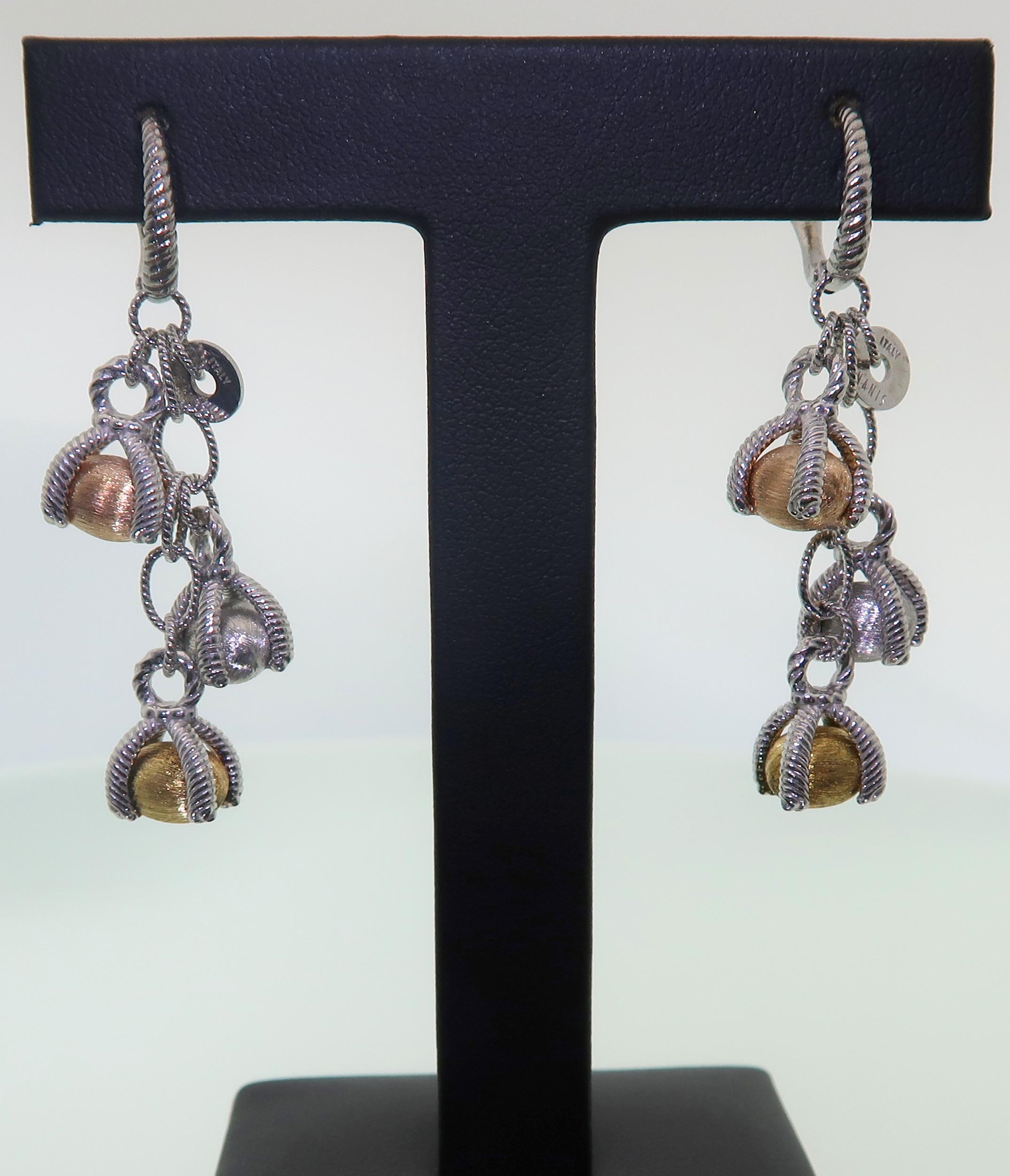 Three Tier Earrings