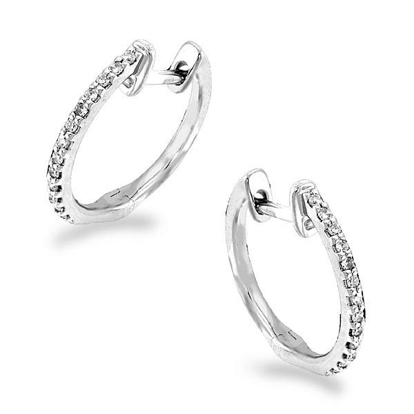 Diamond Mini Hoop Earrings
