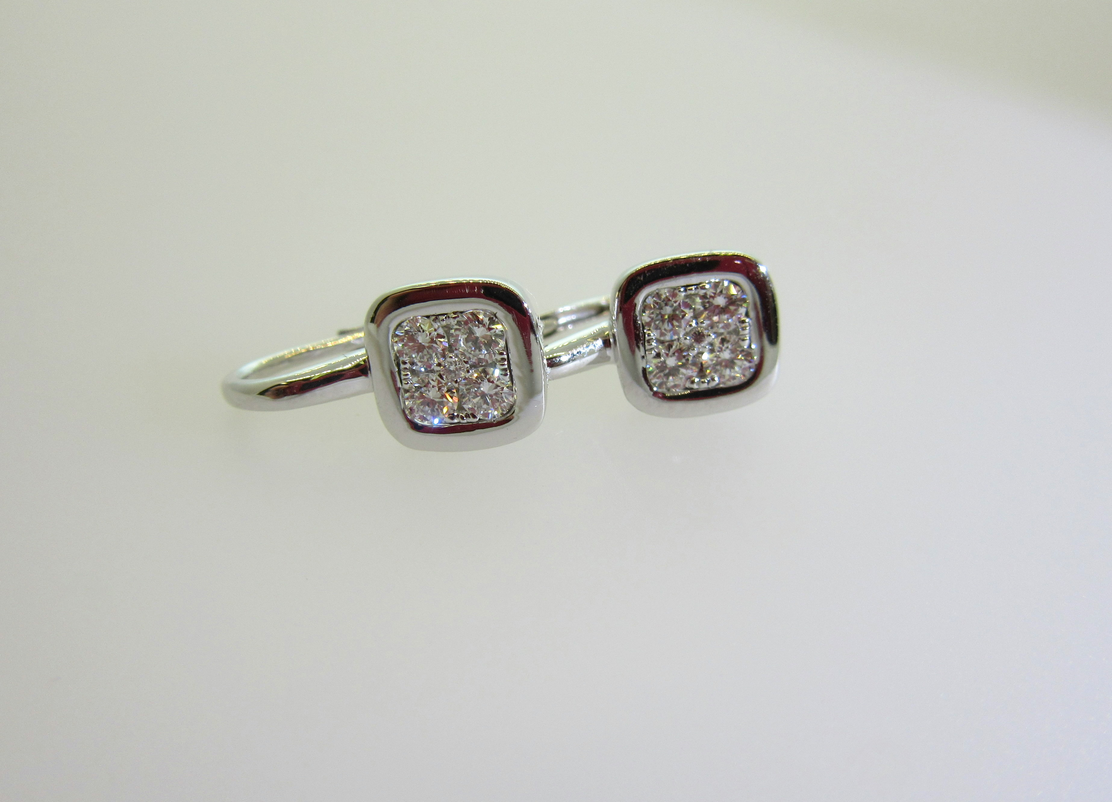 Mini Firenze Diamond Bezel Earrings