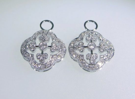 Diamond Clover Earring Charms