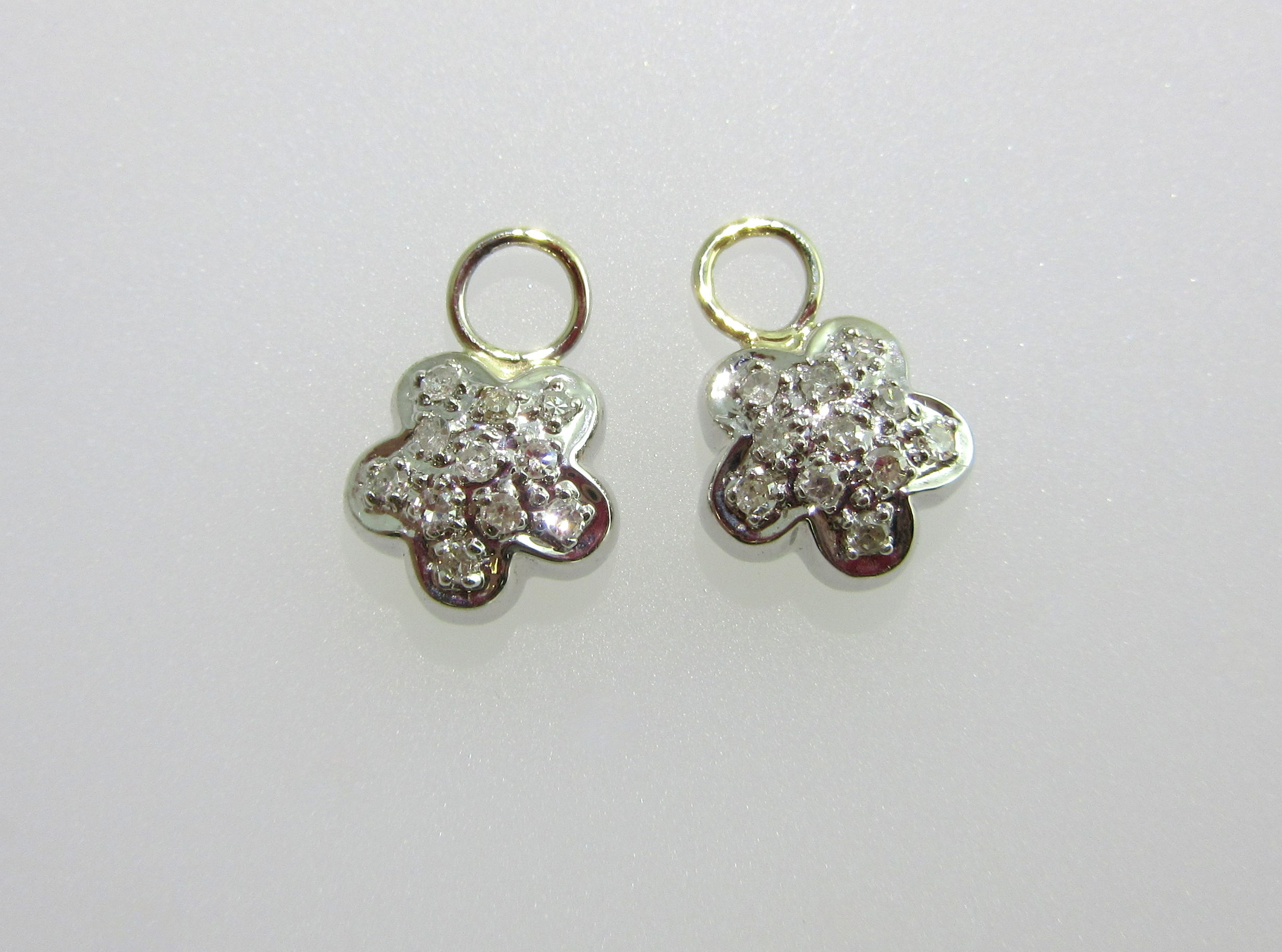 Small Diamond Flower Earring Charms