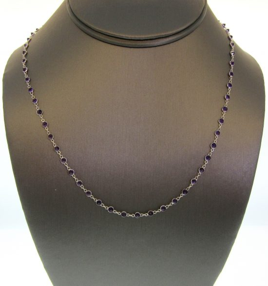 Amethyst by the Yard Necklace