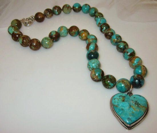 Designer Joan Slifka Heart Necklace
