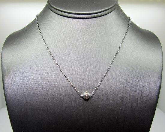 Diamond Satin Station Necklace
