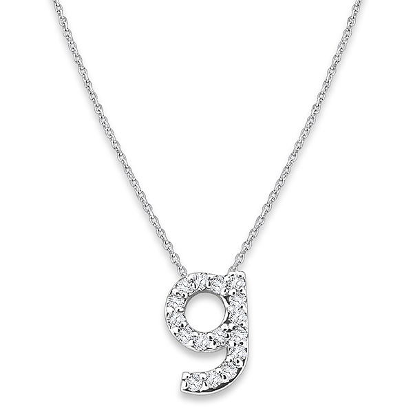 """G"" Diamond Baby Typewriter Initial Necklace"