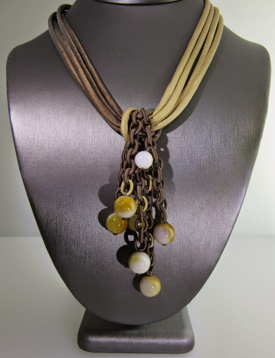 Fabric Multi Chain Necklace