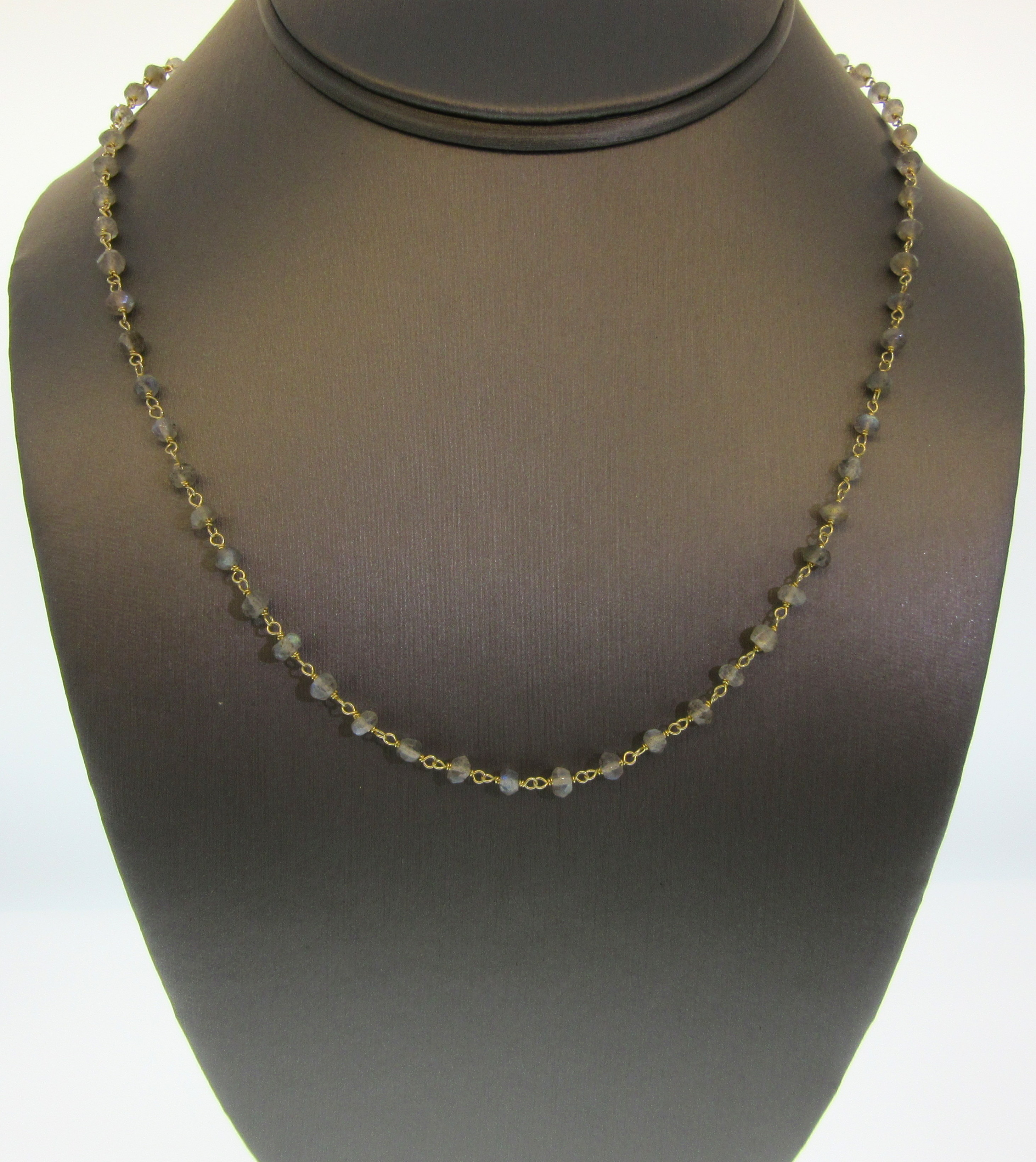 Rough Cut Labradorite by the Yard Necklace
