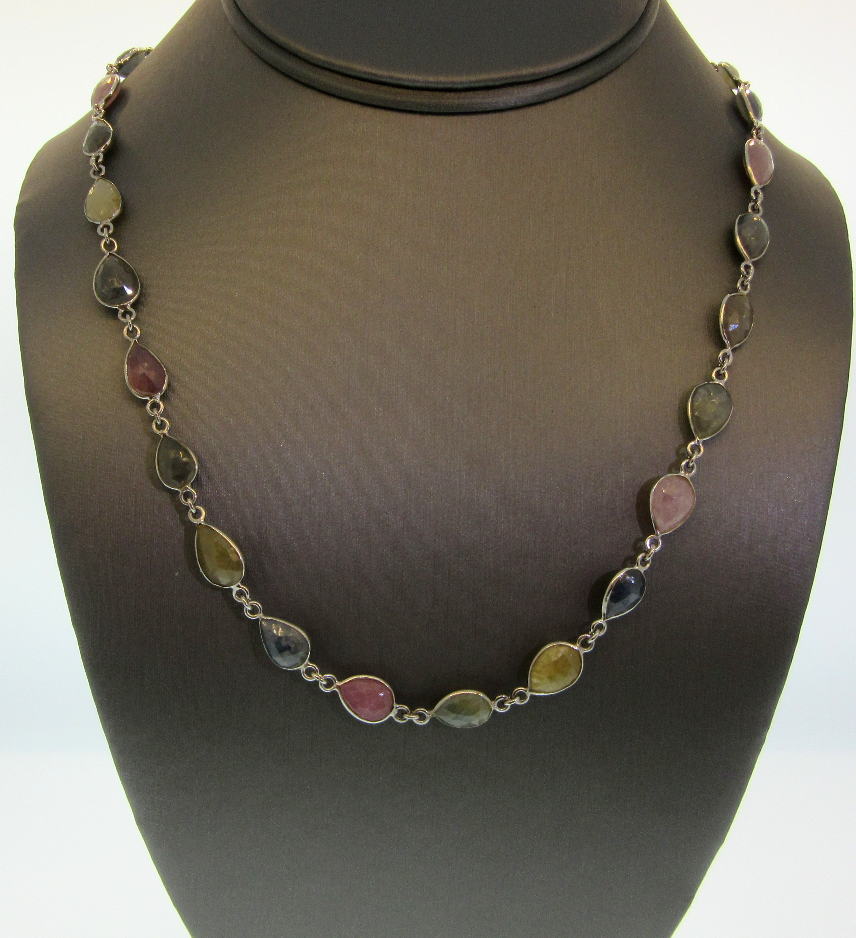 Large Mixed Sapphire by the Yard Necklace