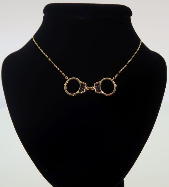 Black Spinel Handcuff Necklace