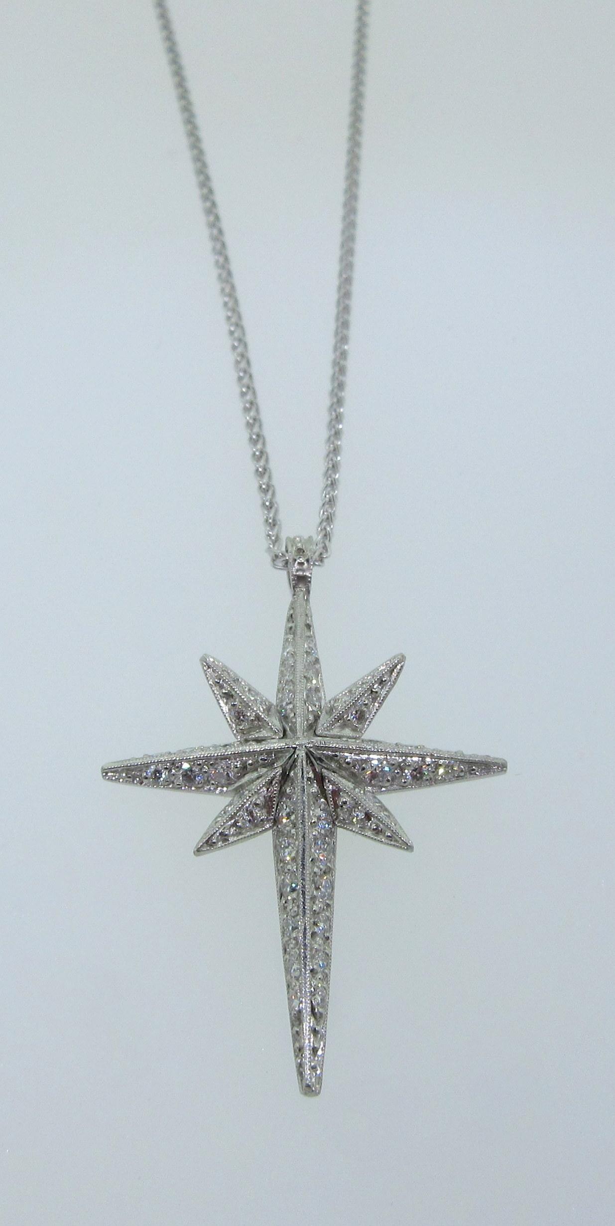Fancy Diamond Cross Pendant