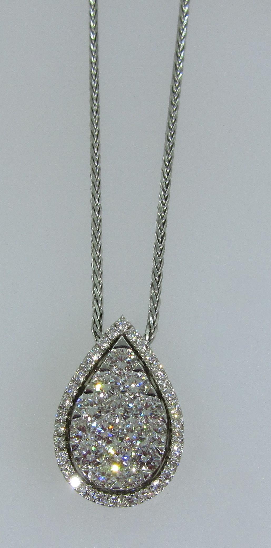 Pearshape Diamond Pendant
