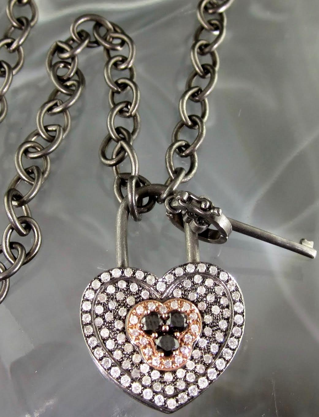 Padlock Heart Pendant