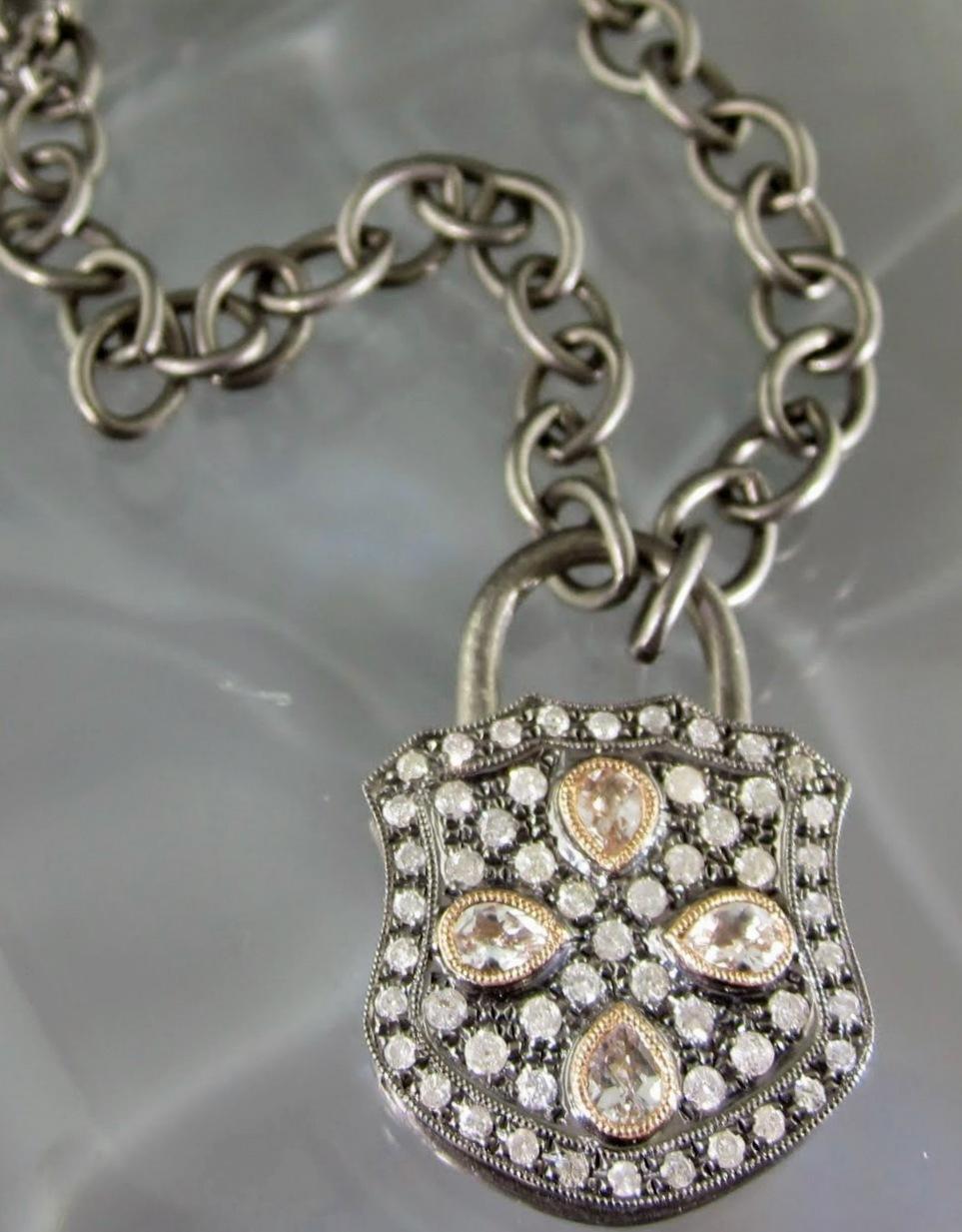 Padlock Petals Pendant