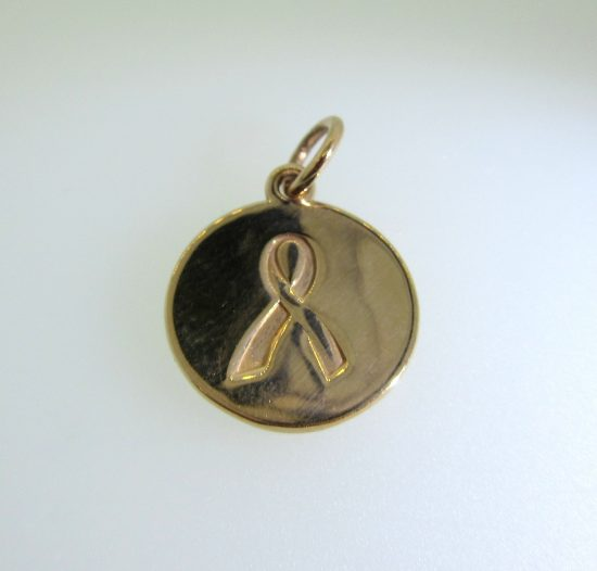Breast Cancer Ribbon Pendant