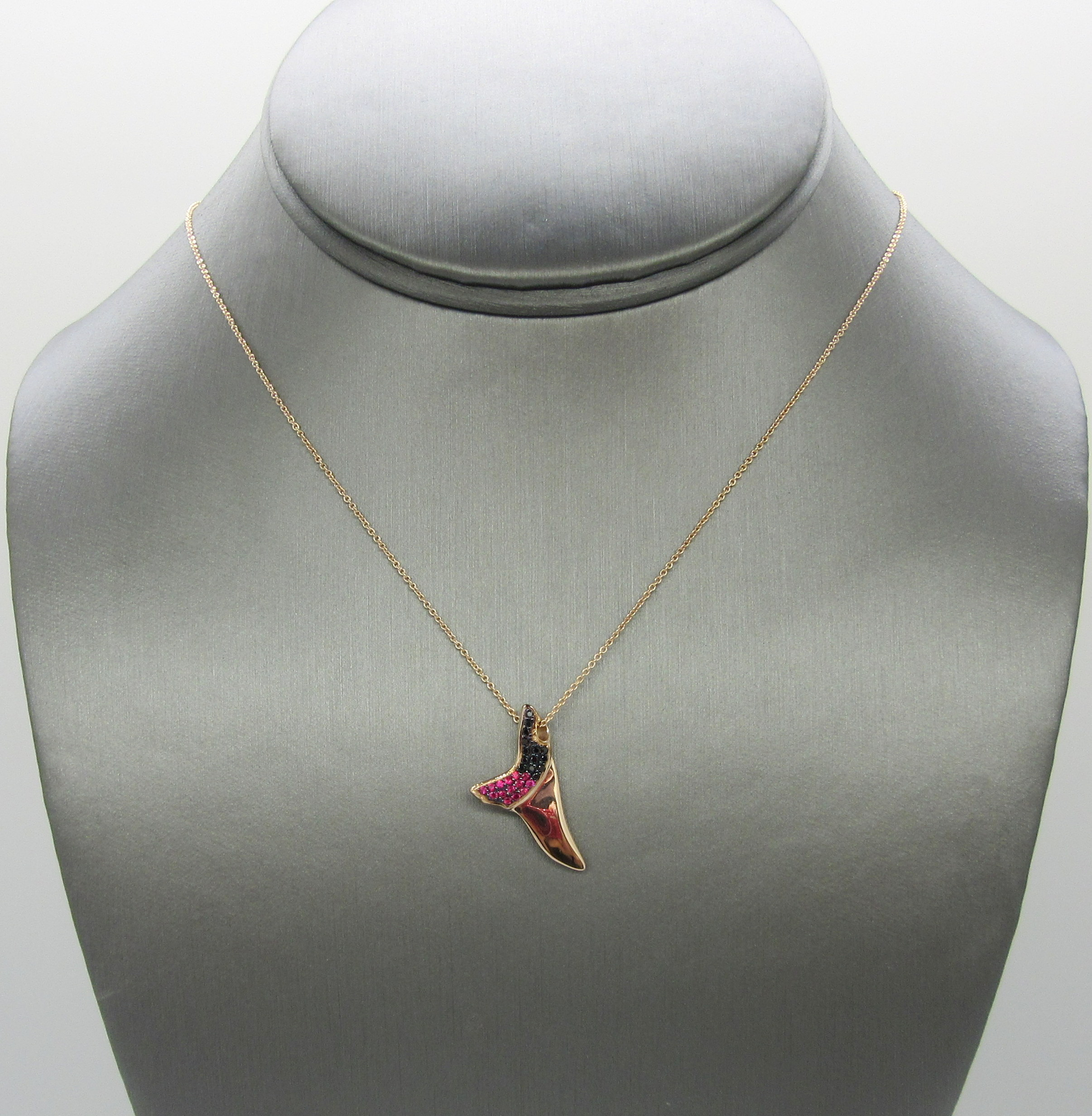 14k Rose Gold Shark Tooth Necklace