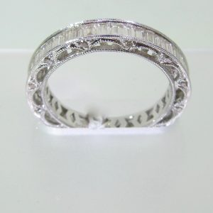 Large Baguette Diamond Eternity Band