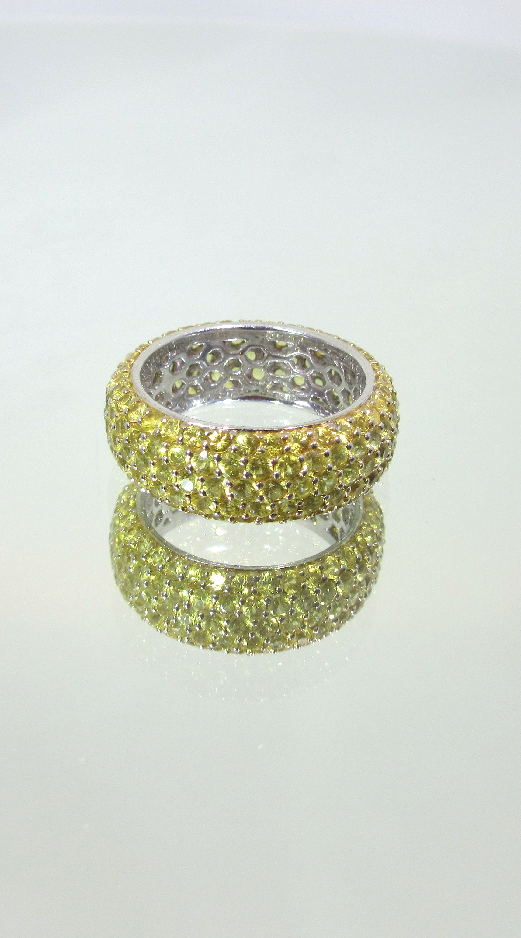 5 Row Yellow Sapphire Eternity Band