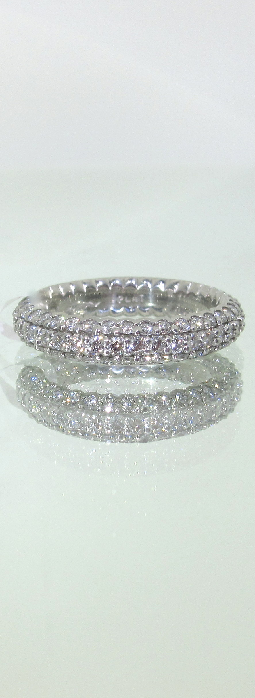 Three Row Diamond Eternity Band