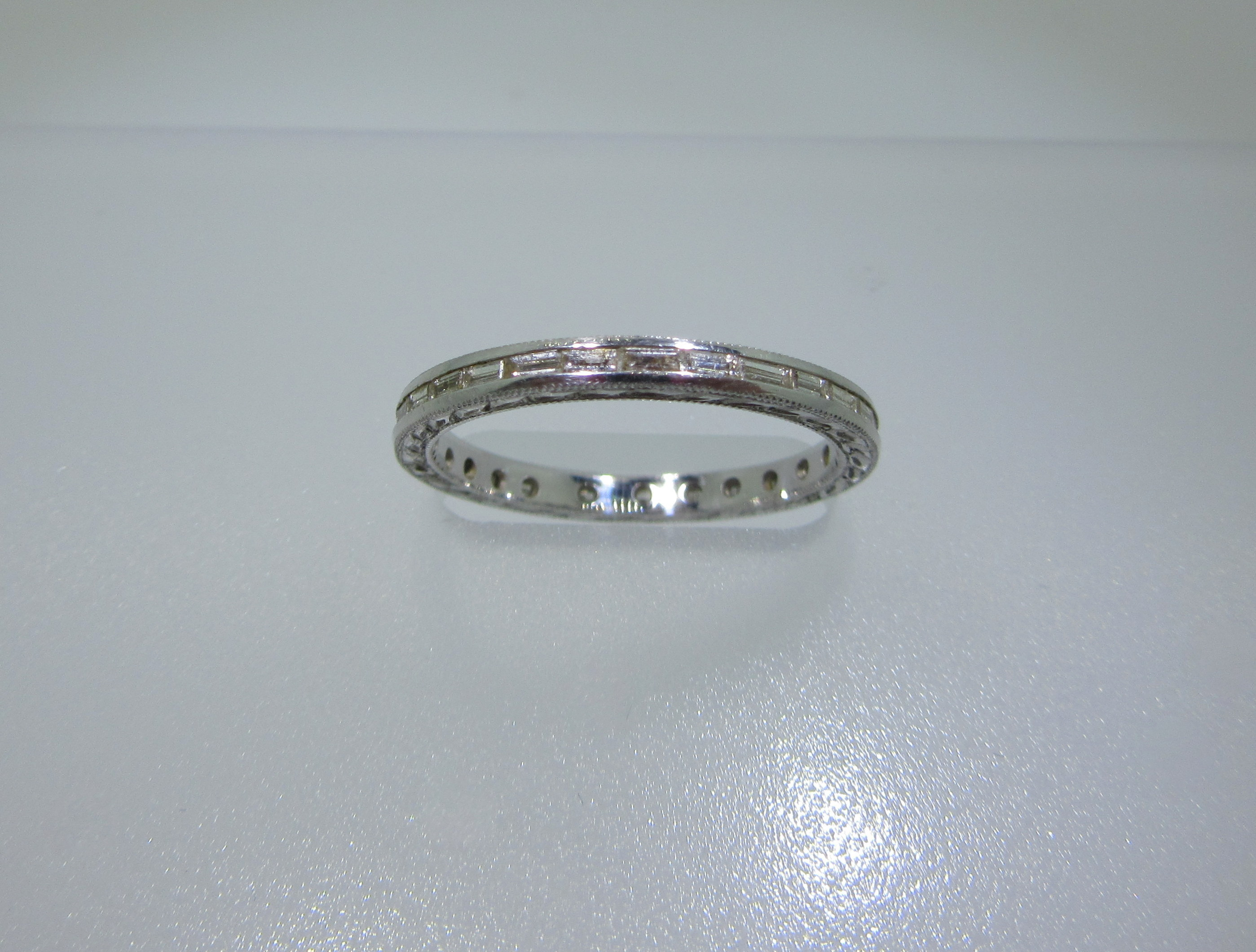 French Baguette Diamond Eternity Band