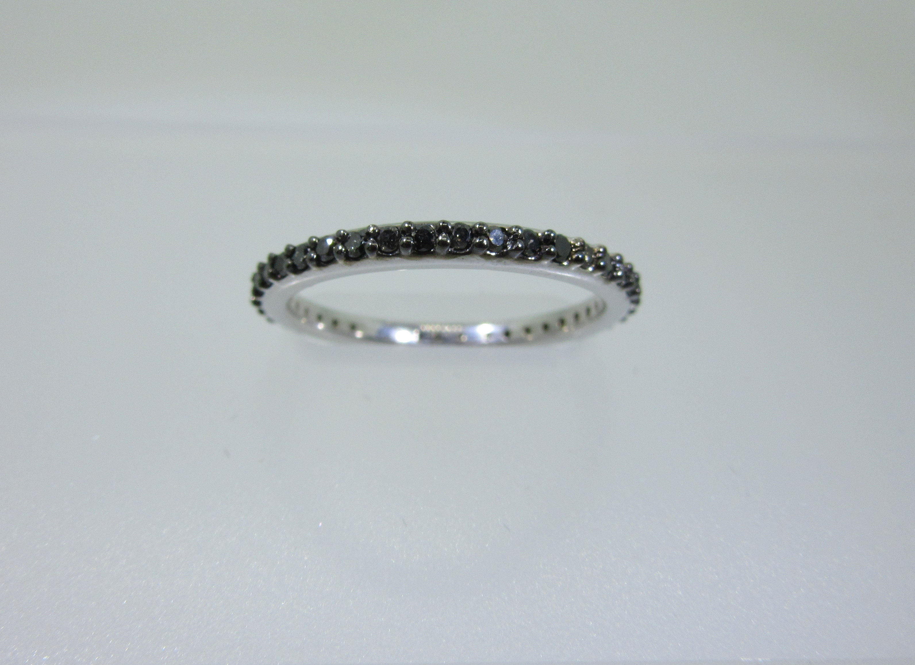 diamond diamonds rose pave products artemer finger black band cut on bands tiny wedding ring pear dainty