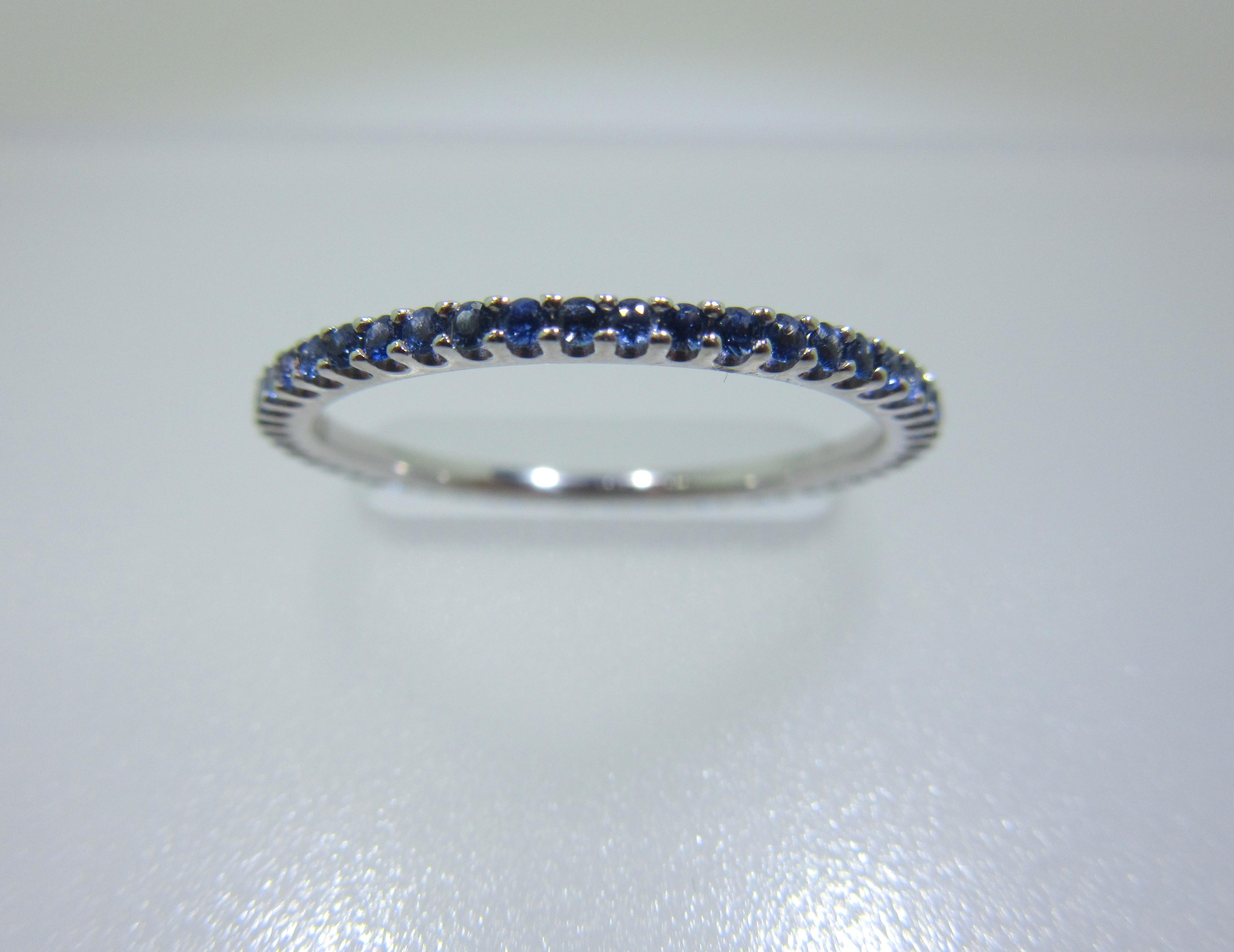 Blue Sapphire Eternity Band