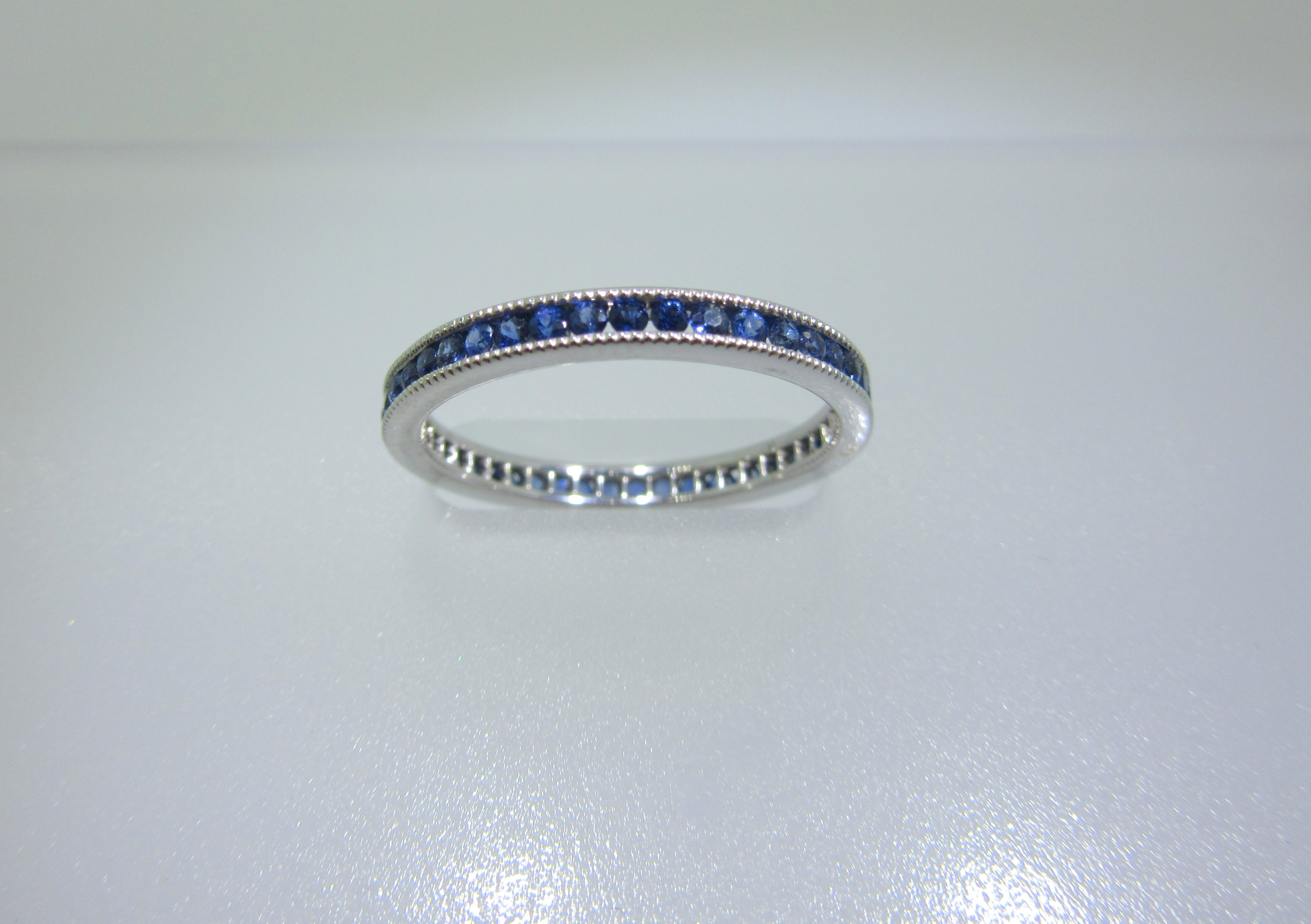 round sapphire bands madison anniversary junikerjewelry diamond baguette band ms and com