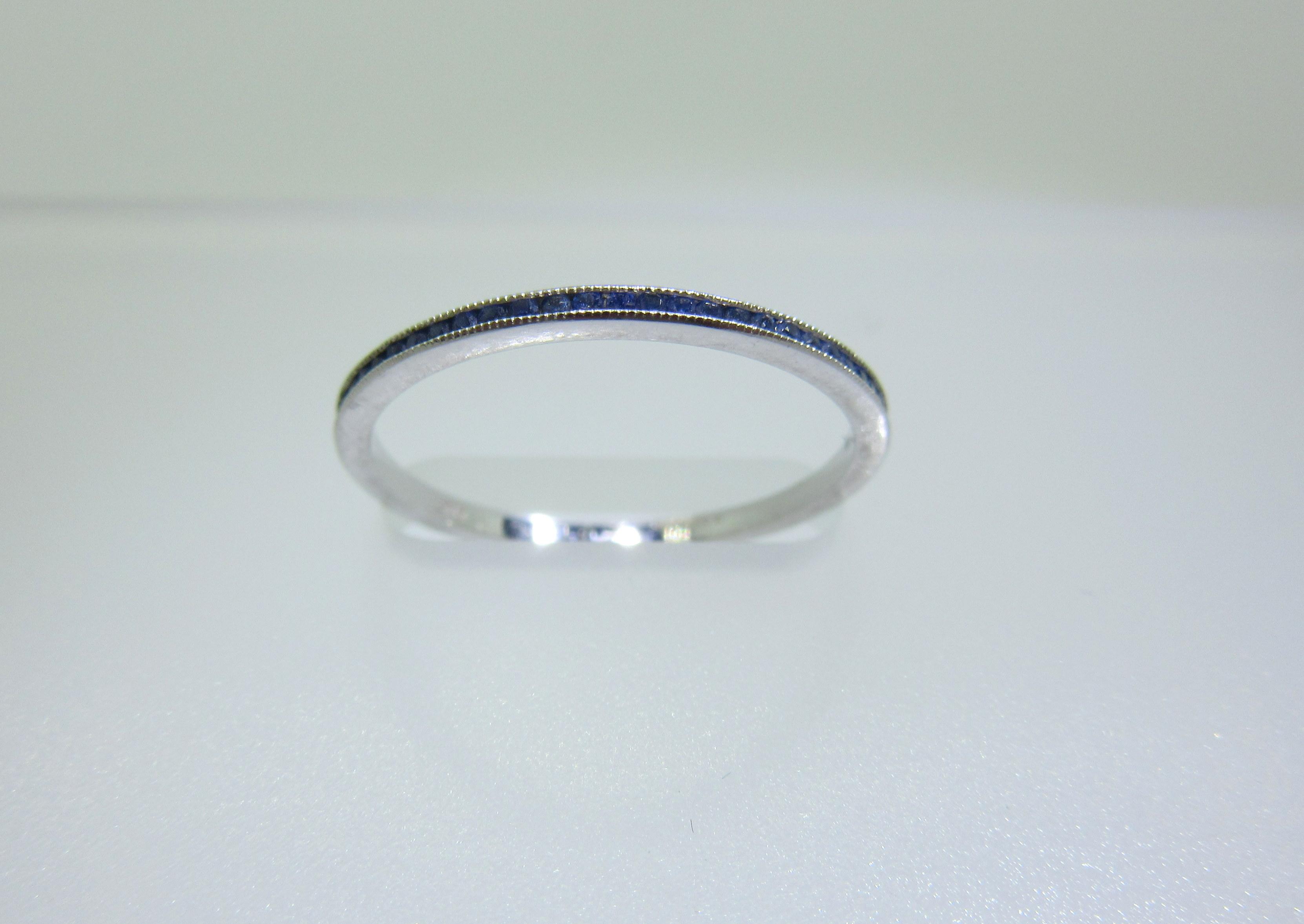 Blue Sapphire Eternity MicroBand